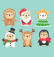 cute funny christmas cosplay french bulldog puppy vector image vector image