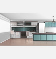 daylight kitchen interior composition vector image