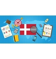 denmark economy economic condition country with vector image vector image