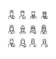 Doctor icons nurse symbols medical professionals vector image vector image