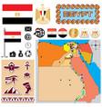 Egipt map vector image vector image