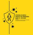 epidemic coronavirus covind-19 2019-ncov vector image