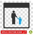 Father Calendar Page Eps Icon vector image vector image