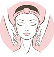 female face treatment in spa salon vector image vector image