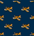 funky airplane seamless pattern vector image vector image