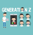 generation z conceptual set sign full length vector image vector image