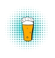 Glass of beer icon comics style vector image vector image