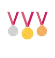 Gold Silver Bronze medal icon vector image