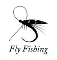 graphic fly fishing vector image vector image
