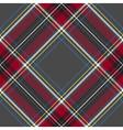 Gray red diagonal check tartan textile seamless vector image vector image