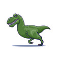 hand drawn cartoon tyrannosaur running vector image