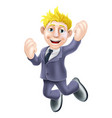 happy businessman jumping vector image vector image