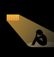 hopeless man in prison art vector image