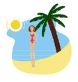 hot girl on a beach vector image vector image