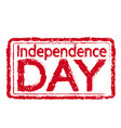 independence day stamp text vector image
