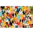 International crowd of people flat vector image vector image