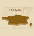 isometric map of france detailed vector image vector image