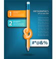 Knotted pencil infographics template vector image