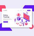 landing page template online tracking concept vector image vector image