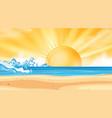 landscape background design ocean at sunset vector image vector image