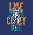 life is a crazy ride vintage retro motocross t vector image vector image
