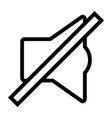 line sound off speaker icon vector image vector image