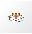 lotus flower icon colored line symbol premium vector image
