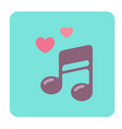love song flat icon vector image vector image