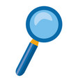magnifying glass search icon on white background vector image vector image