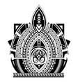 maori style tattoo sleeve vector image vector image