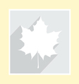 maple leaf silhouette on greeting card vector image vector image