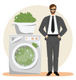 money laundering concept vector image