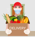 online delivery service concept food delivery vector image