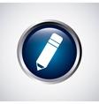 pencil button school icon vector image