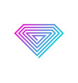 pixel diamond logo icon design vector image