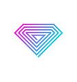 pixel diamond logo icon design vector image vector image