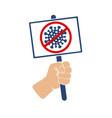 poster stop coronavirus vector image vector image