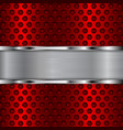 red perforated background vector image vector image