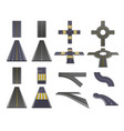 road parts perspective set vector image