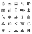 SEO icons on white background vector image vector image