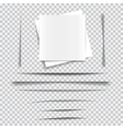 set transparent realistic paper shadow effects vector image