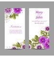 set wedding invitation cards design vector image