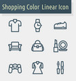 shoping line icon vector image