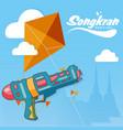 songkran festival in thailand water gun kite backg vector image vector image