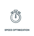 speed optimization icon symbol creative sign from vector image vector image