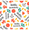 summer theme seamless pattern hibiscus flower vector image vector image