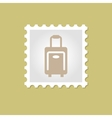 Traveling Bag stamp vector image
