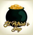 treasure coins saint patrick day vector image vector image