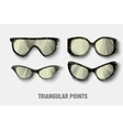 triangular sunglasses vector image vector image