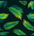 tropical palm leaves - seamless realistic modern vector image vector image